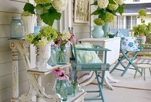 Spring Porches / Bringing the Indoors Out!