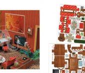 DOLL HOUSE / Cartoncini Calambour da ritagliare, piegare, assemblare ed all'occorrenza incollare per la decorazione delle case per le bambole. /// Calambour cardboards to carve, bend, assemble or stick for the house doll decoration.