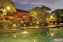 Villa East Indies, Canggu / With an open arms, Villa East Indies invites you to its paradise of heaven. Overlooking the fascinating view of rice paddy field and ancient Hindu temples, this private Bali villa is blessed with comfort, elegance and tranquility.