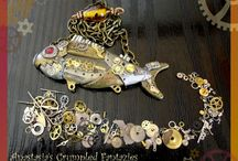 Crumpled Fantazies Steampunk / Steampunk jewelry made by Anastasia's Crumpled Fantazies. Stampunk is by far my favorite inspiration fantasy genre! Every piece is individually loved and cared with extra attention down to the smallest detail. No duplicates are created so every item is unique! If you're looking for a statement piece of artistic jewelry you're in the right place! Fire up your fantasy and imagination with a steamy-geary friend!