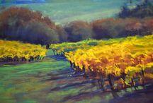 Vineyards / Pastel Paintings