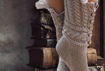 Носки,вязаная обувь