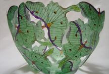 glass art / vintage and moderm glass art stained glass and deco tile