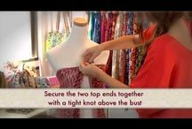 tie a scarf for a bathing suit coverup / by Brenda Odell