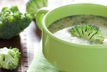Detox soups drinks and food