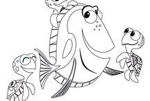 Hledá se Nemo / omalovánky
