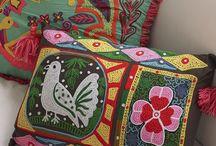 Tessuti particolari tappeti pouf / Decori