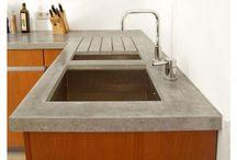 encimera cocina concreto