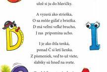 riekanky, básničky MŠ