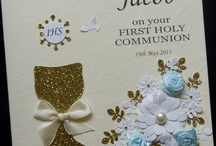 Holy Communion Cards / Handmade greeting cards for first holy communion, made ​​of high quality materials, developed by highly qualified artists and graphic designers. In addition, each card is personalised with the child's name and date of event.