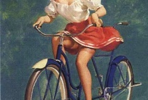 Women and bicycles.