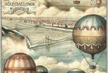 podróże, mapy, balony