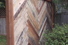 Recycled fence palings