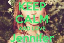 <3 Keep calm: Jennifer Lawrence <3 / Este tablero lo he creado para tener todos los Keep calms de Jennifer Lawrence :)