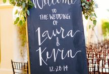 wedding boards / wedding signs