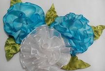 Flor organza