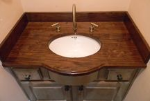 Bathroom Countertops / These are a few examples of countertops installed in bathrooms.