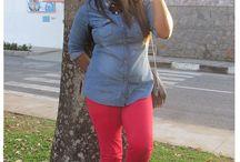 Alcione Santana / Saia plissada + blusa de beijos http://www.byalcione.com.br