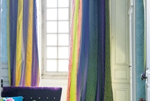 Fabrics (curtains, cushions) & wallpaper