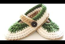 Crochet home shoes
