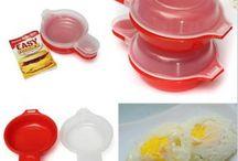 Omelet maker uit de magnetron / Maak je tussendoortje, spiegeleitje of omeletje binnen 1 minuut met deze omelet maker uit de magnetron. Werkt snel en gemakkelijk en geen vieze pannen meer.