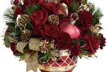 Рождественскиецветочные композиции