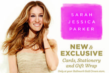 Sarah Jessica Parker / New for 2014 Sarah Jessica Parker Collection.  Crafted to help women celebrate Life's joyous times, cope with difficult ones and find beauty, meaning and Happiness in all moments in between.  The collection includes fresh, inspiring Cards, Stationery and Gift Wrap.