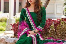 Designer Churidar Suit - DIF29097 / Designer Churidar Suit in Bhagalpuri Silk