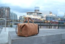 Salford Quays - The Shoot / Photos from the Kurtis Paul photoshoot. Featuring our range of leather bags (duffle bag, weekend bag and tote bag). Mens fashion.