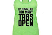 Workout Tops / Funny, Cute and AMAZING workout clothing! / by Dancing Buddha Design