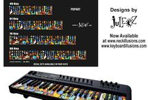 Piano Art- Keyboard Illusions presents Juleez / New Keyboard Illusions Art Made for your keyboards and pianos! HOT new product from Neck Illusions-Keyboard Illusions and Juleez