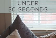 Cleaning Hacks For Your Home / How to clean your blinds and some clever hacks to help you keep on top of the housework.