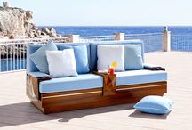 Outdoor Collection / Finkeldei's upholstered furniture collection for outside spaces, like gardens, patios or yachts. Each product range includes sofas, armchairs, chairs, tables and loungers.