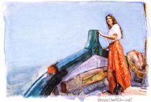 Le fotodipinte di Andrea Samaritani / Le fotodipinte sono fotografie scattate da Andrea Samaritani, stampate su carta tourchon da 300 gr e dipinte a mano con colori acrilici dallo stesso autore. www.andreasamaritani.com