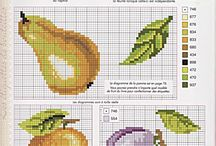 cross stitch fruit&vegetables