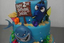 Finding Nemo - Dory cakes