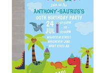 Cute Personalised Dinosaur themed Party Suite