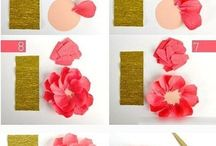 Paper Flowers / How to create flowers from paper or crêpe paper.
