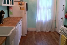 kitchen / simple remodel and decorating that could work in my microscopic kitchen. / by Brooke Trexler