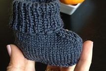 Baby booties for charity