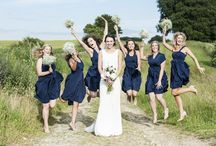 BRIDESMAID DRESSES - All the same! / The traditional way to go with bridesmaid styling - Same Dress, Same Colour, Same Style!