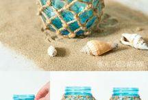 Glazen potten en touw