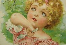 Vintage Infants / Vintage prints of children.
