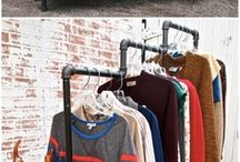 Hanging clothes racks
