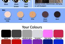 Color analysis - deep / dark winter