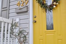 House fronts and numbers