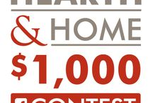 """Hearth & Home Photo Contest / The finalists have been chosen! """"Like"""" us and vote for your favorite entry daily from now through 11/19/13. The winner will receive $1,000. See our Facebook page for official rules."""