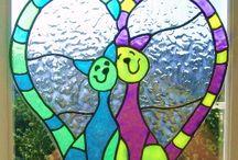 Funky window art