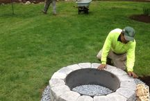 Firepits / Create a fun and inviting space in your yard with a firepit. These masonry structures allow you to enjoy time in your yard during those chilly evenings.