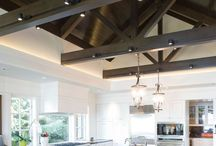 Exposed trusses and lighting